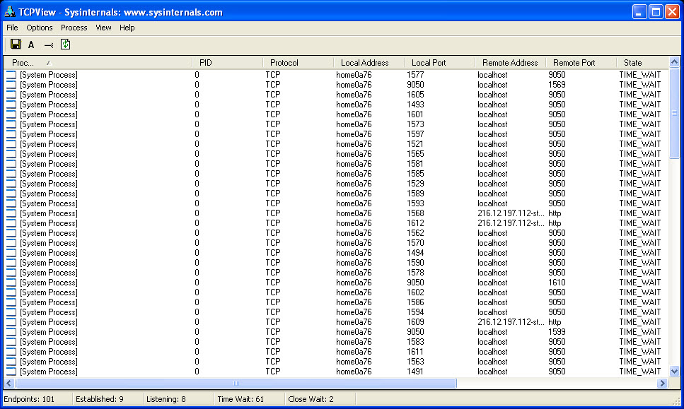 Sysinternals Tcpview - фото 11
